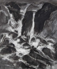 "(30"" x 41"") A studio piece created by Ron Libbrecht using chalks."